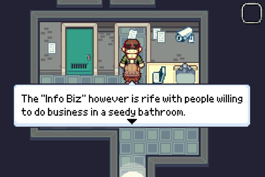 Zoo Saga screenshot of Perry talking to the Information Broker
