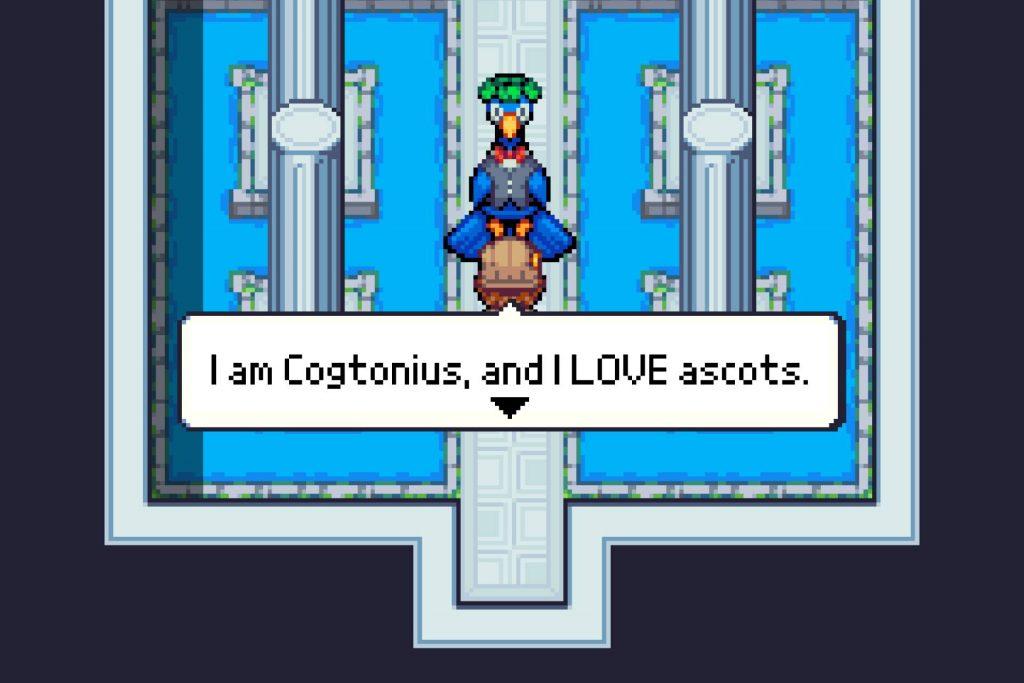 Zoo Saga screenshot of Perry talking to a peacock