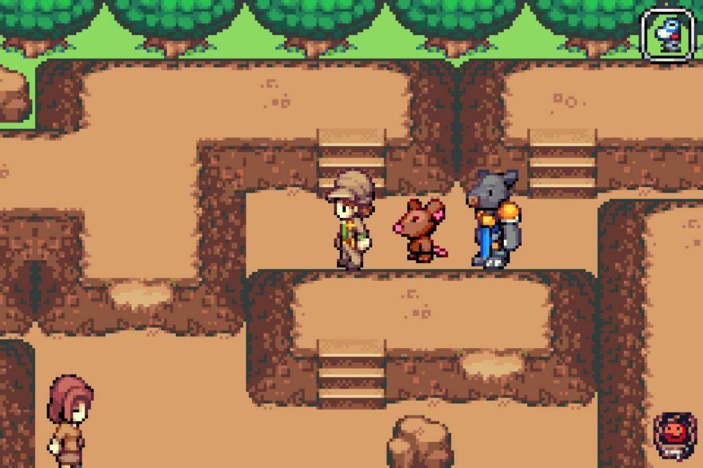 Zoo Saga screenshot of Perry navigating a rocky pathway