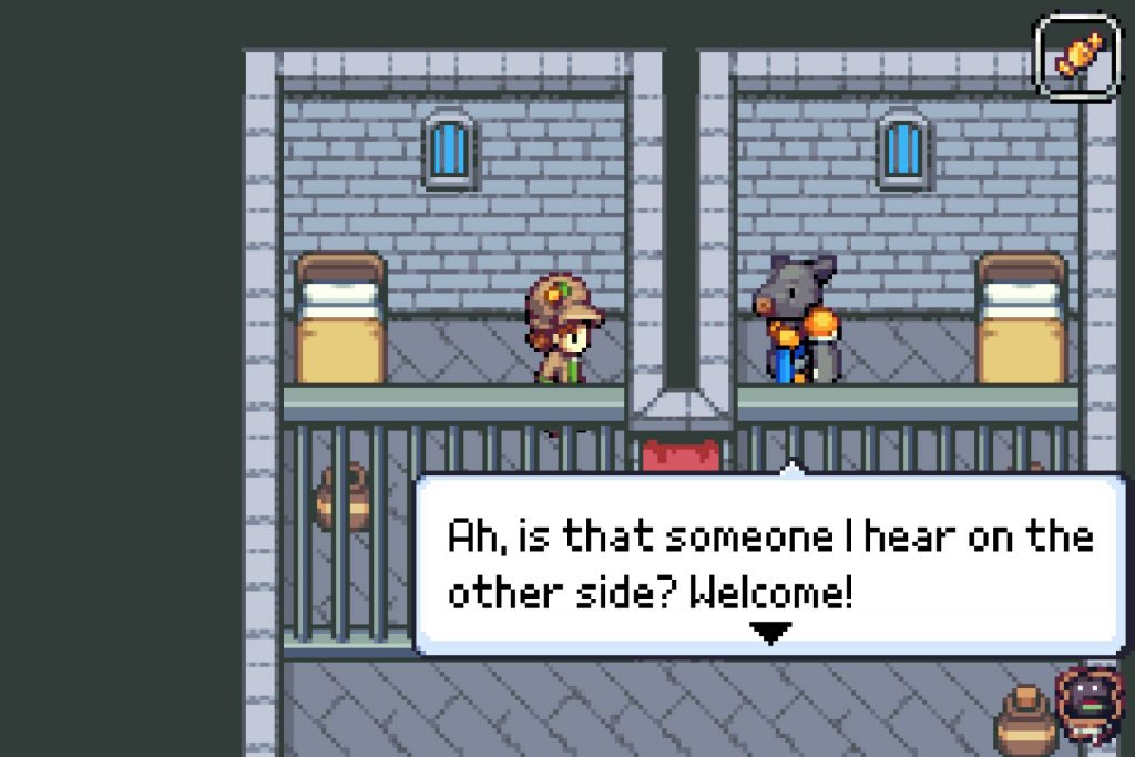 Zoo Saga screenshot of Perry talking to Marcus
