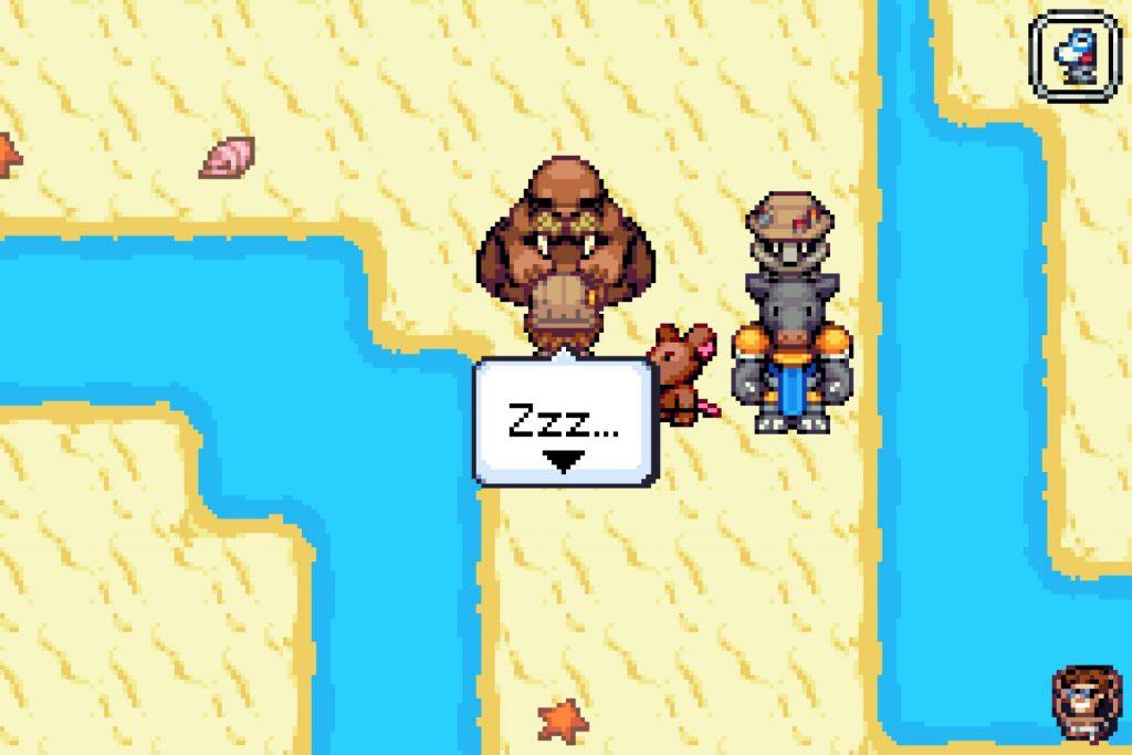Zoo Saga screenshot of Perry talking to a walrus